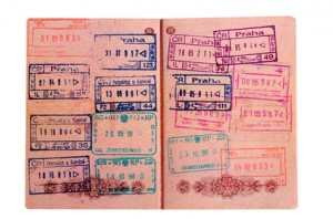 passport stamped on border crossing