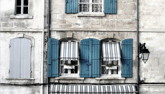 house with shutters
